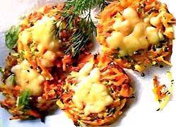 Кабачкові оладки з картоплею