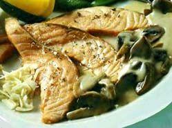Риба смажена з грибами