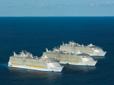 Круті кораблі - три найбільших круїзних лайнера в світі разом
