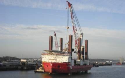 Морські судна для установки турбін