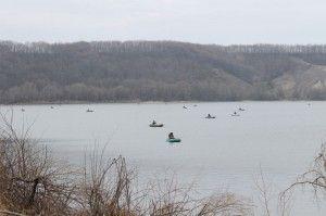 На старооскольском водосховище пройшли змагання з ловлі хижої риби