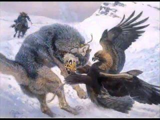 Полювання на вовка з беркутом