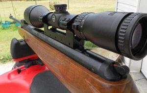 оптичний приціл airmax ev встановлений на гвинтівку