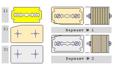 Пристосування для нарізки плоского люрексу.