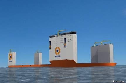Проект нового полупогружной судна «dockwise vanguard» отримує замовлення