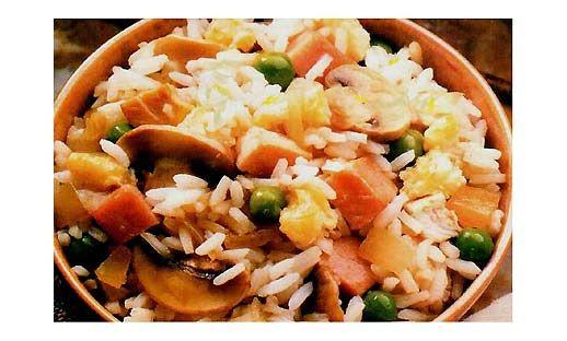 Рис з грибами, рибою