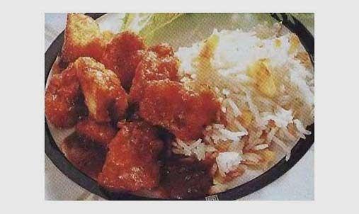 Рис з рибою під соусом