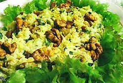 Салат з тріскою, грибами